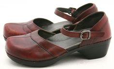 Dansko SALLY 41 womens dress shoes Size 10.5 11 maryjane clogs oxblood Leather #Dansko #Clogs @ebay