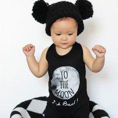 Beanie: Cotton On Kids Romper: Little Urban Apparel Urban Apparel, Rompers For Kids, Urban Outfits, Matilda, Monochrome, To My Daughter, Crochet Hats, Beanie, Mini