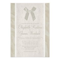 ReviewIvory Vintage Bow & Linen Wedding Invitations CardsIn our offer link above you will see