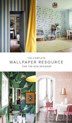 Complete list of where to buy wallpapers - The House That Lars Built Painting Wallpaper, Home Wallpaper, Scenic Wallpaper, Amazing Wallpaper, Where To Buy Wallpaper, Interior Decorating, Interior Design, Decorating Blogs, Interior And Exterior