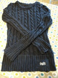 31ae79ffa94 Women s Superdry Jumper size UK Small Navy blue cable knit