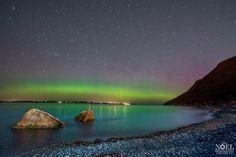 {Newfoundland} Northern lights over Bell Island Newfoundland Canada, Newfoundland And Labrador, Beyond The Sea, Atlantic Canada, Ocean Sounds, Beautiful Sites, Prince Edward Island, New Brunswick, Amazing Pics