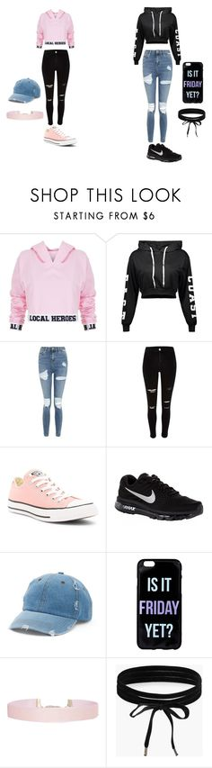 """crop top"" by thaoly-hieu ❤ liked on Polyvore featuring Local Heroes, Topshop, River Island, Converse, NIKE, Mudd, Humble Chic and Boohoo"
