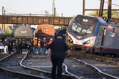 The train carrying 243 people was headed to New York from Washington when it derailed around 9:30 p.m., disrupting train services in the Northeast.