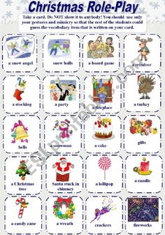 Christmas Role-Play (Gesture Game) - ESL worksheet by elfelena Christmas Play Scripts, Christmas Worksheets, Christmas Games, Kids Christmas, Finger Song, Teaching Plan, Vocabulary Worksheets, Role Play, Body Language