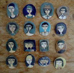 ceramic brooches by kinska, via Flickr