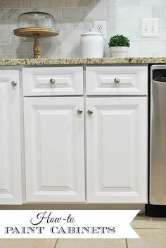 How to Paint Your Kitchen Cabinets--Tips & tricks for a perfectly smooth finish when doing it yourself.