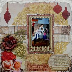 Layout: Christmas Memories **The Scrapping Stamper**