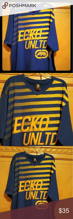 ECKO UNLIMITED SHIRT Men's 100% cotton NWT 3XLT Ecko Unlimited Shirts