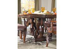 Brown Ledelle Table and Base View 1