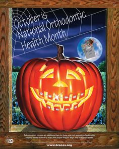October is National Orthodontic Health Month. Give us a call today to schedule your COMPLIMENTARY CONSULTATION with Dr. Fashemo and learn how orthodontics can benefit you or your child. Orthodontic Humor, Orthodontic Appliances, Orthodontics Marketing, Dental Health Month, Oral Health, Dental Pictures, Dental Humor, Braces Humor, Dental Art