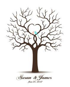 Hochzeit Gästebuch Guest Book Tree Printable von CustombyBernolli