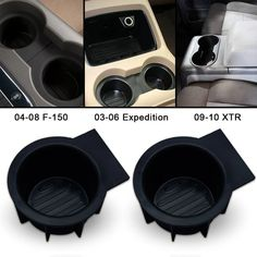 Cup Holder Insert 2pcs Fit 2004-2008 F150(Flow Through Console) – Winunite Cup Holder Insert, King Ranch, Dog Bowls, Console, Flow, Fitness, Bags, Handbags