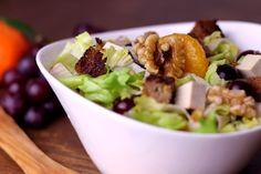 Salat mit Mandarinen und Walnüssen