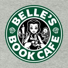 Belle Book Cafe Beauty and the Beast Disney Princess Starbucks Coffee Logo Cutting File in Svg, Eps, Dxf, and Jpeg for Cricut & Silhouette Starbucks Logo, Disney Starbucks, Starbucks Coffee, Starbucks Siren, Disney T-shirts, Disney Love, Disney Magic, Disney Belle, Disney Travel