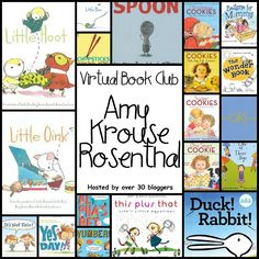 Book Activities for books written by Amy Krouse Rosenthal featured author at Virtual Book Club for Kids at The Educators' Spin On It