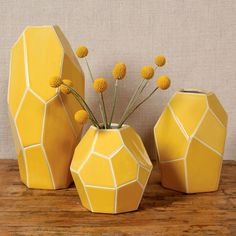 Jewel Cut Vase / Dot & Bo, need these for my family room color palette
