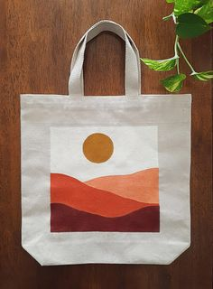 Sacs Tote Bags, Diy Tote Bag, Canvas Tote Bags, Diy Bag Painting, Painted Canvas Bags, Custom Tote Bags, Boho Diy, Printed Tote Bags, Hand Painted
