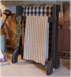 Primitive Towel or Dry Rack Farmhouse Kitchen or Bathroom make it: