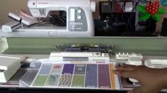 setting up the SK280 punchcard knitting machine