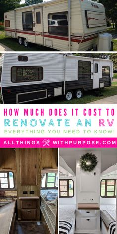 I'll breakdown all the costs involved in renovating an outdated or damaged camping trailer or RV. I'll help you budget the costs involved in your remodel.