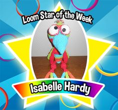 We've seen plenty of bucolic imagery, but none have featured a bird as endearing as this. Congratulations to Isabelle Hardy as our Loom Star of the Week! With plumage befitting Rainbow Loom royalty, his zany gaze is sure to hypnotize you into adoration. Loom on! https://www.facebook.com/340822649338519/photos/a.626527627434685.1073741832.340822649338519/841208482633264/?type=1&theater