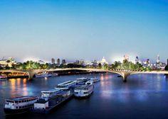 Nový projekt zeleného mostu v Londýně - Garden Bridge London | Yab