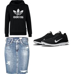 my style by jshull77 on Polyvore featuring adidas Originals, AG Adriano Goldschmied and NIKE