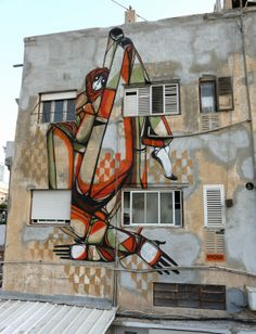 Amose new street art piece in Tel-Aviv.