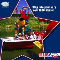 Step into your very own LEGO Movie! Legoland California Resort is home to the largest LEGO park in the world. With themed water parks and LEGO-inspired rides and attractions, it's sure to be an experience your kids will remember for life! Visit Legoland this summer with your family