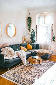 Living room design - HOME Wohnzimmer - Decor Home Living Room, Apartment Living, Living Room Designs, Living Room Ideas Old House, Indie Living Room, Living Room Furniture, Bright Apartment, Bohemian Living Rooms, Studio Apartment