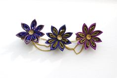 Floral Crown Hair Garland Brooch Pin in Burnt by cuttlefishlove