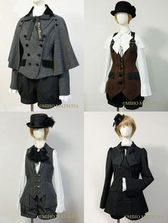 tasudesu: Someday these outfits will be in my closet. - womens and mens clothing, teen clothing, cheap womens clothes free shipping *ad Lolita Fashion, Gothic Fashion, Victorian Fashion, Victorian Era, Steampunk Fashion, Costume Steampunk, Steampunk Clothing, Steampunk Boy, Steampunk Outfits