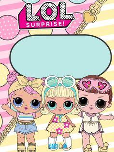 Lol Surprise Copertina Diario o Quaderno - Cartoni animati Girl Birthday, Birthday Cards, Lol Doll Cake, Doll Party, Party Favor Tags, Birthday Invitation Templates, Doll Stands, Lol Dolls, Little Pony