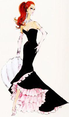 (¯`'•.ೋ…          Robert Best- Fashion Designer for Barbie vintage barbie sketch <3