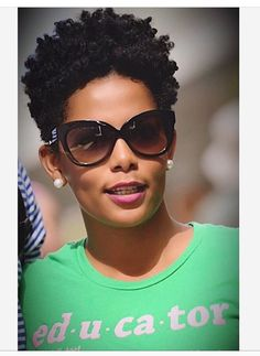 Tapered natural hair. Gorgeous
