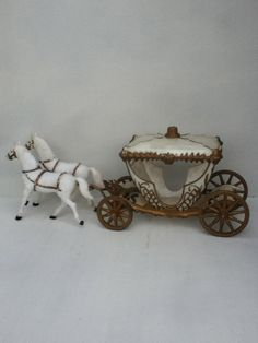 vintage cake decor cinderella carriage girls by UpcycledWhimsies, $8.00