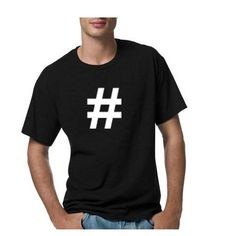 HASHTAG black Large L T-shirt twitter social media facebook instagram NEW #TheDestroyedHipster #TShirt