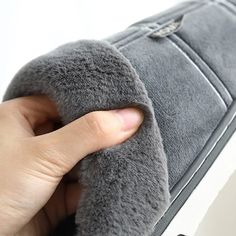 Plaid Design Plush Warm Winter Men Slippers | 4Colordress
