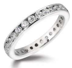 Full eternity ring with round cut channel set diamonds by www.diamondsandrings.co.uk