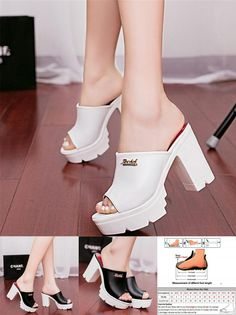 5af33e289eba 2017 summer with thick bottom high heel shoes fish mouth female cool  slippers waterproof Taiwan thick with sexy sandals-in Women s Sandals from  Shoes on ...