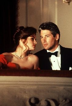 Richard Gere  Julia Roberts in Pretty Woman (1990).  It may be about a pretty woman, but oh my lord, he's a gorgeous man! lol