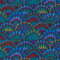 Teal Paper Fans - Kaffe Fassett Collective - Limited Edition