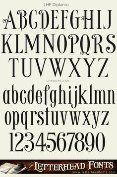 Letterhead Fonts / LHF Diploma font / Vintage Fonts