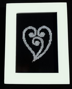 New Zealand Maori Heart Koru Design Cross Stitch by KiwiXCrossing