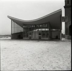 Powisle train station in 50's. Now one of the best places (Warsaw Powisle bar) to go out in summer.