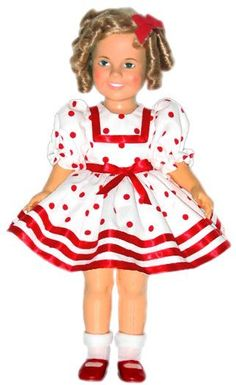 Shirley Temple Red Dot Dress | Vee's Victorians Doll Clothes