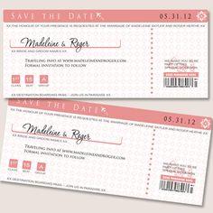 Destination wedding save the date cards!