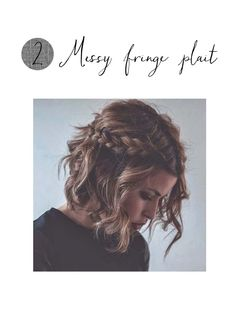 This one is perfect for me on a particularly messy morning. Simply do two plaits from the front on both sides and secure both at the back. Doesn't matter if it's not perfect, that's the point.