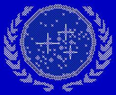 United Federation of Planets Insignia Patch Cross Stitch Pattern PDF
